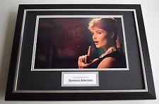 Gemma Arterton SIGNED FRAMED Photo Autograph 16x12 display James Bond Film & COA