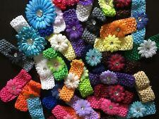 55 x mix  bulk Cute Baby Girls  Flower Hairbow  Crochet Headbands Hair set