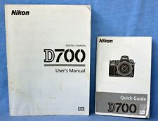New listing Nikon D700 User's Manual and Quick Guide