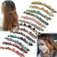 Fashion Women Crystal Hairpin Hair Clip Barrette Bobby pin Girls Jewelry