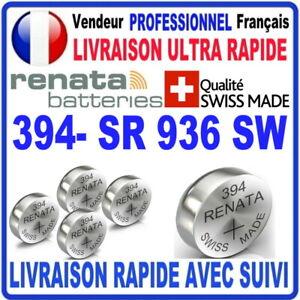 Pile 394 SR936SW AG9 1.55V RENATA Pile bouton QUALITÉ PREMIUM MADE IN SWISS