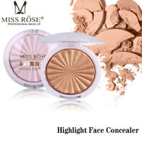 Miss Rose Highlight Face Concealer Highlight Makeup  Shimmer Powder Glow bw