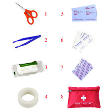 8pcs Outdoor Portable Small Emergency Bag First Aid Kit Medical Travel Survival 1 Set Bag