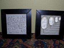 2 Bilder aus Glas im Holzrahmen - sehr exklusiv