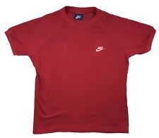 Vintage 80's Nike Blue Tag Perforated Mesh T Shirt LARGE Red felt spell out SS