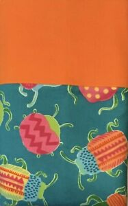 NEW Flannel Pillow Case BUGS Orange, Green, Pink Free Shipping