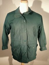 WOMENS GREEN EDDIE BAUER WOOL LINED MOUNTAIN PARKA JACKET sz SMALL wool