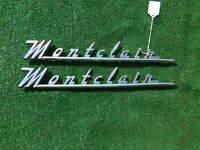 1955 1956 Mercury Montclair front fender emblems 55 56