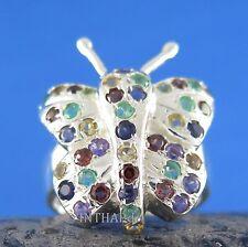 Echte Edelstein-Ringe mit Smaragd und Fantasie für Damen