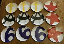"12 - Pottery Barn Regatta 8 1/4"" Plastic plates Dishwasher Safe"