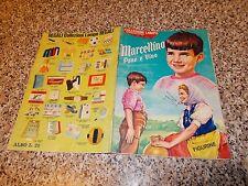 ALBUM MARCELLINO PANE E VINO LAMPO 1966 +29 FIG BUONO EDIZIONE RARA FIG MARRONI