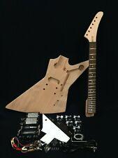 E1958 Complete No-Soldering Mahogany Body Electric Guitar DIY Kit.H-H Pickups