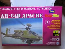 REVELL SNAP TITE BOXED PLANE APACHE AH-64D 1/100 85-1373