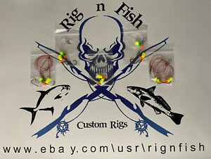 """5 - Surf Fishing Rigs, """"The Package"""", Pompano, Whitings, Sea Bass, Snappers, Etc"""