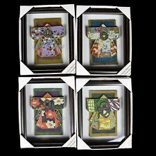 4 in the series Japanese Wall Shadow Box Painted Kimono Old Japanese Coin Satori