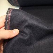 dunkel blauer warmer schwerer Winterstoff Mantelwolle wie Loden Meterware Tolko