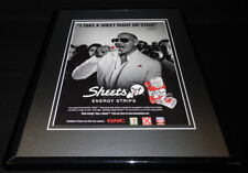 Pitbull 2011 Sheets Energy Strips Framed 11x14 ORIGINAL Vintage Advertisement