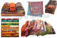 Vintage Reversible Kantha Quilt WHOLESALE LOT 10 PC Throw Blanket Indian Ralli