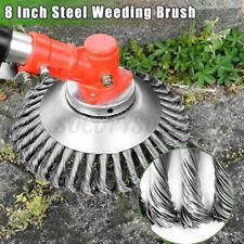 8inch Steel Wire Wheel Garden Lawn Mower Grass Eater Trimmer Brush Cutter Tools