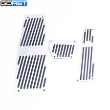 Foot rest pad brake fuel accelerator pedal for BMW E60 5 6 series AT with M logo