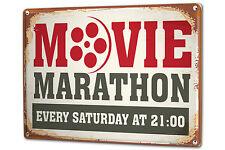 Tin Sign XXL Fun Ravtive Movie marathon metal plate plaque