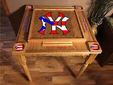 Puerto Rico Flag Domino Table with the NY Logo -MVP