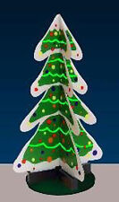 Miller Engineering Lighted Animated 3D Christmas Tree Figure New #2009