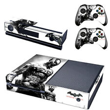 Batman Arkham Xbox One Console SKIN + 2x Controller Stickers Decal FacePlate Pad