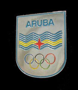 Tokyo 2020 Limited new ARUBA Olympic NOC TEAM delegation Silver XL Shield pin