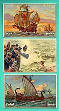 Germany ERDAL KWAK Sailing ship lot of 6 Vintage cards 206
