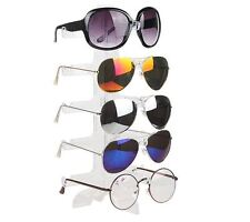 AU Seller - 5 Pairs Sunglasses Glasses Display Acrylic Clear Stand Holder Rack