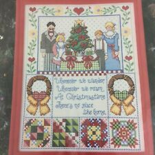 Christmas Time Counted Cross Stitch Kit 1030 Design Works Family Home Sealed