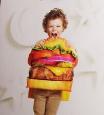 Toddler Boys Girls Cheeseburger Burger Hamburger Halloween Costume 3T 4T 5T NEW