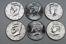 2004 2005 2006  P D  Kennedy Half Dollar Uncirculated Set from Mint Rolls