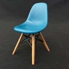 DSW Dinning Chair-1 piece-BLUE. 1/12 scale Miniature Mid-Century Designer Chair