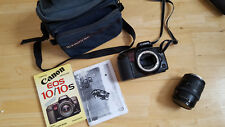 Canon EOS 10 SLR Film Camera + Canon Zoom Lens 35-105mm Manuals Camera Bag