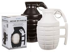 Grenade Mug avec Couvercle-Main Grès Militaire Armée Cadeau