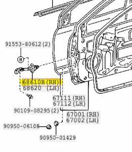 TOYOTA Genuine YARIS 68610B CHECK ASSY FRONT DOOR RH ECHO 68610-52010