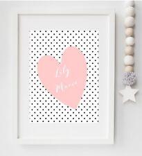 A4 Nursery Name Print, Girls Name, Pink, Bedroom