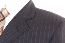 M&S SARTORIAL GREY PINSTRIPE 100% WOOL MEN'S SUIT 38R DRY-CLEANED