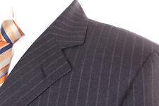 M&S SARTORIAL GREY PINSTRIPE 100% WOOL MEN'S SUIT 38R DRY-CLEANED