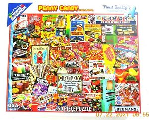 White Mountain Penny Candy 550 Piece Puzzle Preowned Wrigleys Beemans Baby Ruth