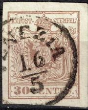 Lombardy-Venetia Kingdom Coat of Arms classic stamp 1850 Venezia Postmark