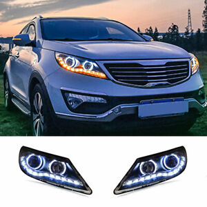 For Kia Sportage LED Headlights Projector HID DRL Replace OEM Halogen 2011-2016