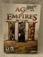 Age of Empires III (PC, 2005) 3 discs Complete Game Computer