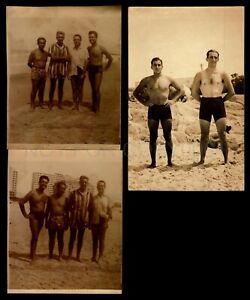 Uruguay Beach actors man in swimsuit Gay interest RPPC postcard