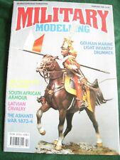 MILITARY MODELLING MAGAZINE FEB 1990 GERMAN MARINE LIGHT INFANTRY DRUMMER MALTA