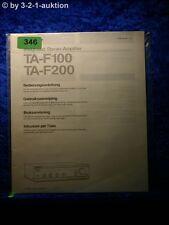 Sony TA manuale di istruzioni f100/f200 stereo amplifier (#0346)