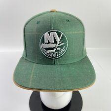 Reebok New York Islanders Shamrock Irish Snapback Hat Wool NHL Green Flat Brim