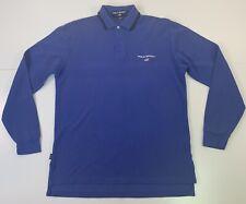 VTG Ralph Lauren Polo Sport Men's Medium M Long Sleeve Flag Rugby Polo Shirt